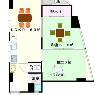 【マンション田中】5号タイプ!2LDKタイプ!日本橋のヲタロード...