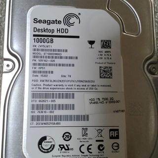 取引中 3.5インチHDD  1TB   (2015年製)