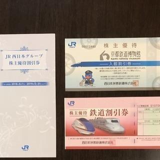 [お値下げしました!]JR西日本の鉄道割引券等セットです