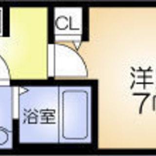 千林8分 家賃35,000円 共益費8,000円 21㎡
