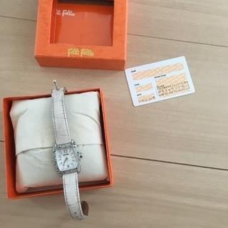 最終値下げ本物購入カード付きフォリフォリ腕時計