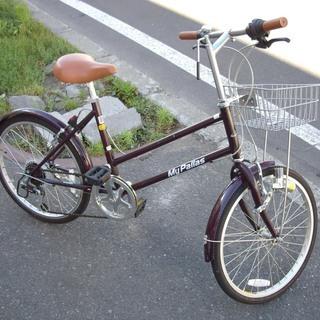 札幌 20インチ 自転車 6段切換え ワインレッド MyPall...