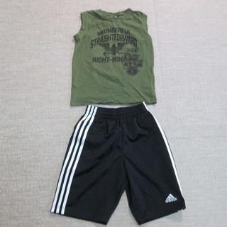 男の子 アディダスハーフパンツ・ランニングシャツ 二点セット
