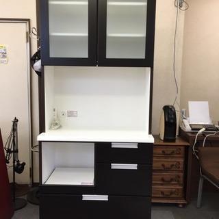 【ニトリ】食器棚 カップボード DAHLIA-80KB-DBR 美品