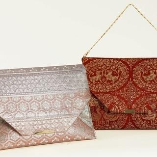 「着物リメイクバッグ」縫わずにできる袋帯のクラッチバッグ
