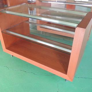 アパレル什器 ガラス&木製 ショーケース W80 × D150 ...