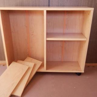 スリムワゴン 木製 キャスター付 可動式 カラーボックス 本棚 収納