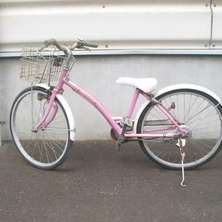 千葉県 香取市 中古 子供用自転車 22インチ  ピンク色