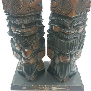【民芸品】木彫りアイヌの置物