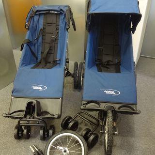 【試乗で数回使用2台セット】大人も乗れる障がい児・障がい者用大型...