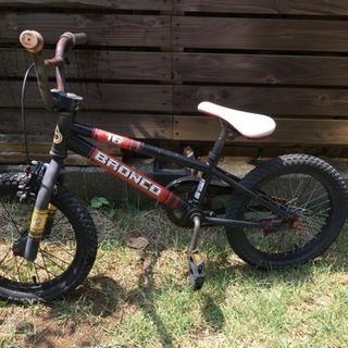 キッズ BMX 自転車 黒赤 16インチ 子供用