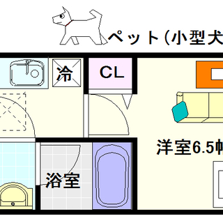 【スプランディッド難波Ⅱ】4号タイプ!1Kタイプ!小型犬もしくは...