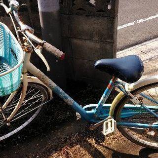 女の子用自転車 汚れサビあり たぶん20インチ