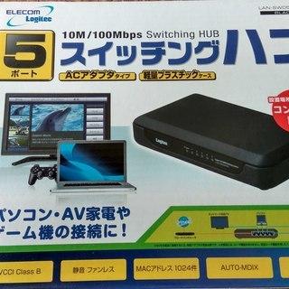 5ポート スイッチングハブ 100/10Mbps