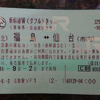 新幹線Wキップ 福島仙台