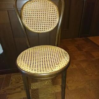 MARNIの籐椅子 座面ほつれあり