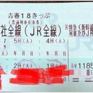 【青春18切符 2回分】 返送不要