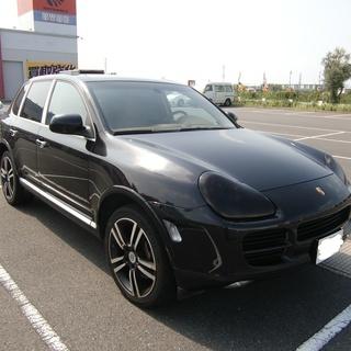 2005年ポルシェカイエン 黒4WDオートマ 内装キャメルレザー