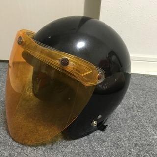 バイクのヘルメット黒57〜61センチジェットヘル