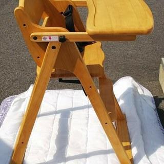 TR 木製ハイチェア ベビーチェア 子供椅子 子供用食卓イス