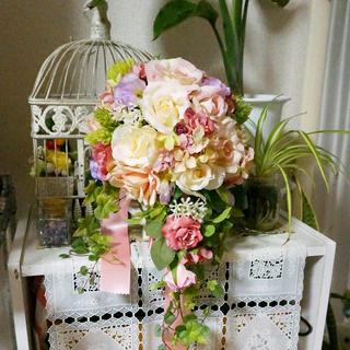 ブライダルブーケ&ブートニア 結婚式 花束 アーティシャルフラワー