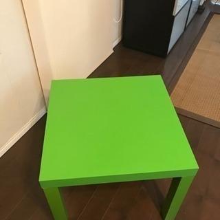 【美品】黄緑色のIKEAのテーブル