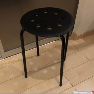 未使用!MARIUS IKEA スツール イス ブラック