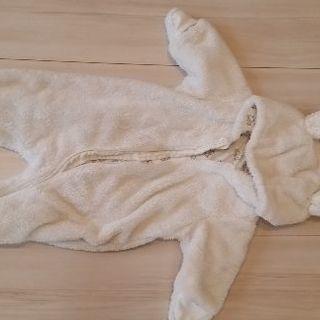 【値下げ】H&M 防寒着ウサギのカバーオール  2-4m