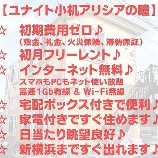 【9/23まで】初期費用ゼロ!ギガが減らないお得な築浅☆新横浜駅徒...