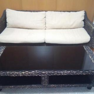 アジアン風 ソファー&テーブルセット