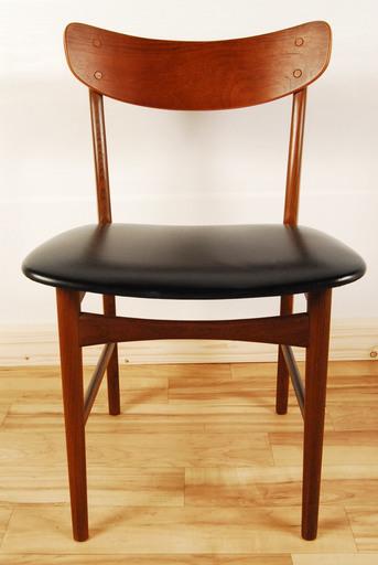 6259北欧 チーク材合皮椅子ダイニングチェアアントレ ひろ 岡崎の椅子