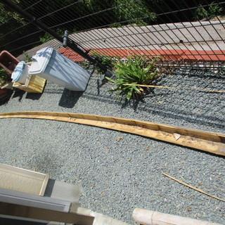 流しそうめん用の竹 5m 1本物 深底
