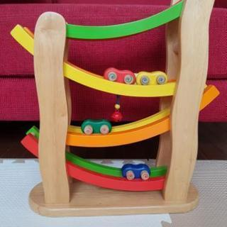 PINTOY社 レインボースロープ スライダー 木のおもちゃ