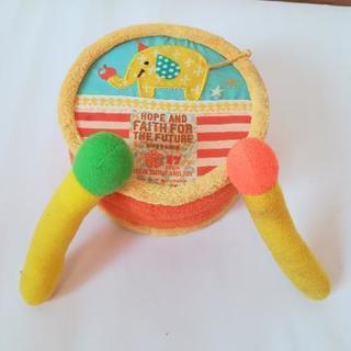 【値下げ】赤ちゃん太鼓 布製 ぞうさん カラフル