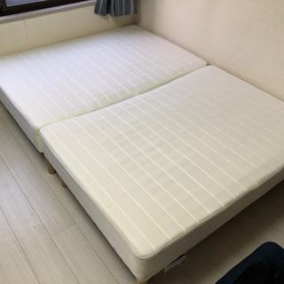 ★☆足つきマットレスベッドのシングルとダブルを「0円」でお譲りいたします★☆ - 京都市