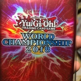公式 遊戯王 世界大会 WCS 2018 赤 スリーブ 新品未開封...