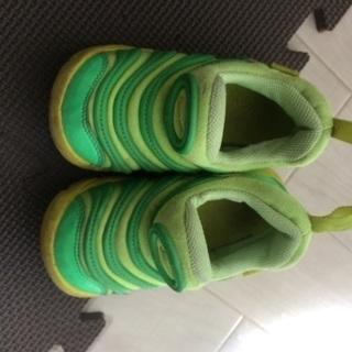 ナイキ ダイナモフリー 黄緑 13.0