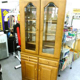 手稲リサイクル 大型食器棚 キッチンボード 収納 木目 ¥17,800-