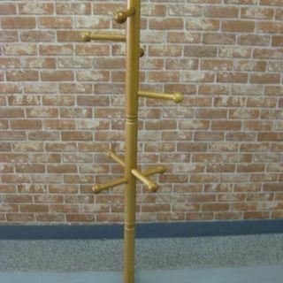 木製 ポールハンガー ハンガーラック 約136cm 組立式