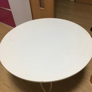 <無料>白い丸テーブル