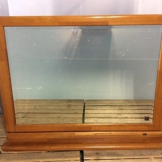 大きな鏡台 ドレッサー 鏡 木製枠の画像