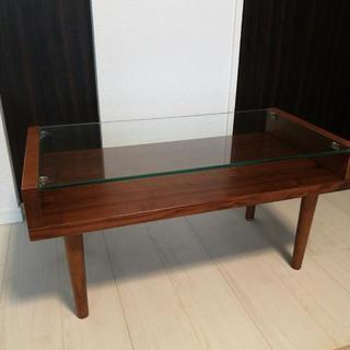 ガラステーブル ブラウン 【値下げ】