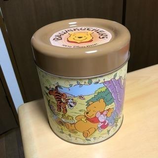 空き容器☆ディズニーお菓子缶大きめ☆くまのプーさん