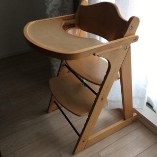 子供用椅子 カトージ プレミアムベビーチェア ナチュラル