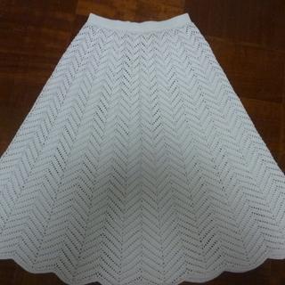 100%レース素材 スカート
