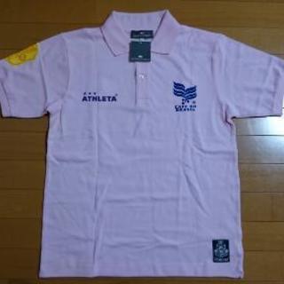 『新品・送料無料』ATHLETE  ポロシャツ ピンク Lサイズ