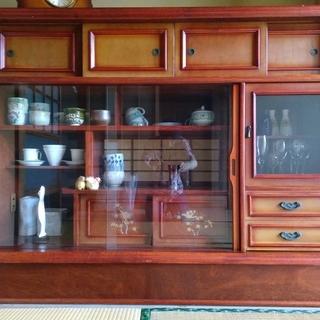 茶箪笥 欅 漆塗り 螺鈿細工
