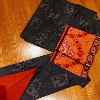 本場大島紬 着物と名古屋帯セット