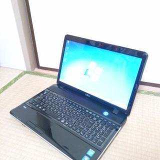 美品 富士通 FUJITSU ノートパソコン PC 無線LAN W...