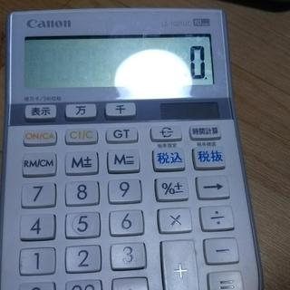 雑貨 電卓 CANON キャノン 抗菌 千万単位表示 税計算 時...